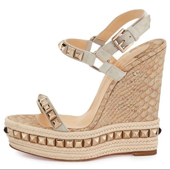 b62f0cb02ed Christian Louboutin Shoes - Louboutin Cataclou Python Wedge 140